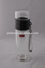 400ml sport travel borosilicate glass water bottle