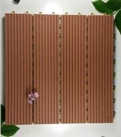 Non-slip Wood Composite Decking Tiles/30x30cm Deck Tiles/Interlocking WPC Composite Deck Tiles