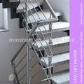 moderno de acero inoxidable barandillas de escalera