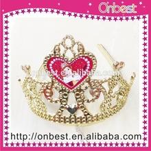 princess tiara red rhinestone tiara