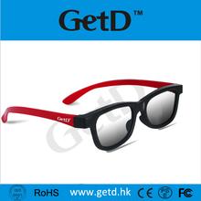 Light Weight Passive Circular Polarized 3D Glasses Cinema use