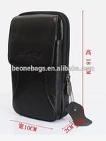 Portable Pouch Men Leather Waist Belt Phone Case Organizer Bag
