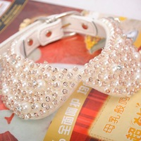 lovely pet dog cat diamond necklace collar