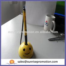 Yellow cheap smile desk pen
