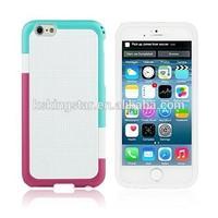 TPU+PC combo dual color bumper case for iphone 6 plus,multicolor case for iphone 6