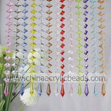 Xmas Decoration 8.5*20*30mm Crystal Ring Beaded Curtain The Idea of