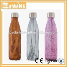 Stainless Steel Double Wall Water Bottle Bpa Free/stainless steel vacuum sport bottle custom printing logo/ PACKSHINE