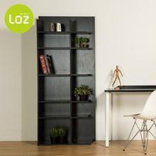 MFC modern furniture wooden corner bookcase