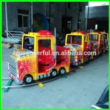 [Wonderful!!!]Cool 2014 newest design used amusement rides track train on rail/ mini electric train