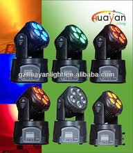 High Quality Professional Stage Light Show Color Strobe Effect Cheap rgbwa 5x10w 5-in-1 new dj led mini moving head lighting