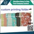 Venta al por mayor de oficina& la escuela buen precio oem a4 tamaño de la impresión personalizada de la carpeta de grabación en relieve
