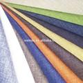 100% de poliéster sofá de la tela/tela de tapicería/forro pongis tela de lino look