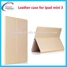 New arrival fashion design silk leather tablet case for ipad mini 3