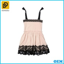 CHINA SUPPLY COTTON JERSEY & LACE GIRL DRESS