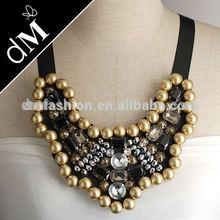 2015 fashion mulit beaded with acrylic necklace