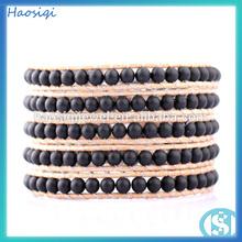 handmade matte onyx bracelet black onyx bracelet for men