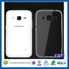 C&T Protective Ultra Thin 0.3mm Transparent Glossy TPU Crystal Clear Slim Light Weight Case For Samsung G3818