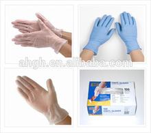 Popular white/blue/black disposable XL6.0g vinyl gloves