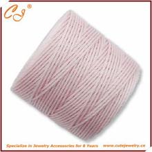 Вязание крючком кос superlon плетеный ожерелье шнуры, Нейлон шнур для одежды