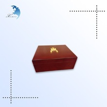 High quality promotional customized logo printed gift wood boxes in China made
