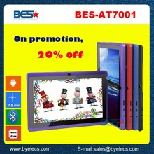 BES hot sales 7 inch android custom logo tablet pc