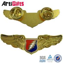 Custom cheap metal 3d pilot wings pin badge