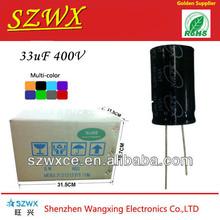 Low ESR 33uf 400v high voltage capacitor for sale