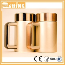 High end 18/8 stainless steel vacuum office mug with filter
