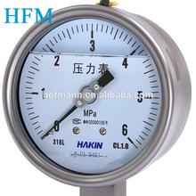 bourdon tube type pressure gauge hydraulic pressure gauge on alibaba