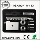 Uerka hot selling inculding coil jig atomizer holder ceramic Tweezer Clipper kanthal wire organic cotton ecig rba/rda tool kit