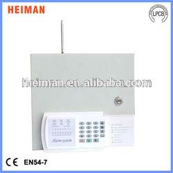 AC220V 16 wired zones and 16 wireless zones home wired wireless burglar security gsm alarm system