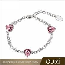 high quality fashion link bracelet jewelry ouxi 2015 made with Swarovski Elements 30248-130248-1