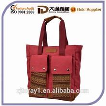New Design Vintage Custom Print Korea Canvas Messenger Bag Wholesale