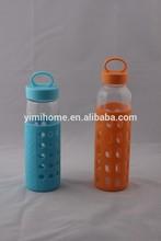 500ml sport travel borosilicate glass water bottle
