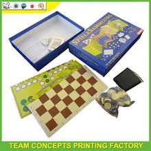 Carton desk paper games puzzle