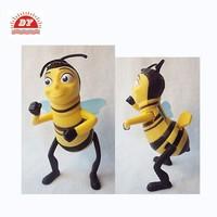 custom ABS 3d bee figure from shenzhen factory