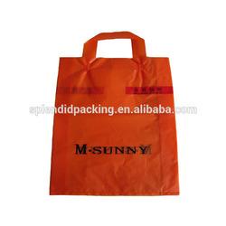 Top quality 100% biodegradable plastic soft loop handle bag