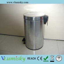 Stainless Steel Foot Pedal Waste Bin With 3L Volume