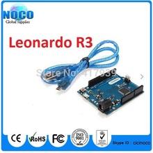 10sets/lot for arduino Leonardo R3 development board + USB Cable