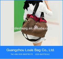 cotton canvas fabric OEM Women duffel bag