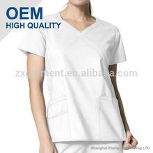 White Nurse Hospital Uniform OEM