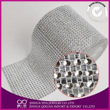Diamond mesh wrap roll sparkle rhinestone ribbon/crystal rhinestone mesh trim