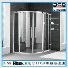 China best mirror finishTempered Glass top pivot hinge shower door