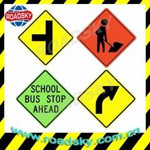 Custom Arrow Direction Flashing Aluminum Street Road Signs