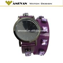 Modelos femininos de couro pulseira de pérolas relógio de diamante relógio de pulso relógio de quartzo vestidos de noiva 2014