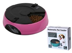 remote automatic pet feeder with battery operated for dogs