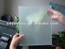 6mm hot sale decorative artistic glass acid etched glass for shower room/ glass door