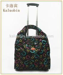 professional makeup 2 wheel nylon light weight 42*37*26 market shopping travel bag