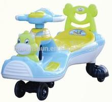 swivel wheels kids magic car/girls /boys ride on toy cars