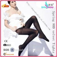 2015 Sexy & fashion 80D velvet spring autumn plain tights tube pantyhose for women (SR-1022)